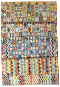 Moroccan Berber - Afghanistan Teppe 119X174 Ekte Moderne Håndknyttet Beige/Mørk Grå (Ull, Afghanistan)