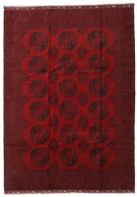 Afghan Teppe 206X288 Ekte Orientalsk Håndknyttet Mørk Rød/Rød (Ull, Afghanistan)
