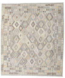 Kelim Afghan Old Style Teppe 257X296 Ekte Orientalsk Håndvevd Lys Grå Stort (Ull, Afghanistan)