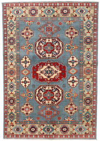 Kazak Teppe 141X207 Ekte Orientalsk Håndknyttet Mørk Brun/Mørk Beige (Ull, Afghanistan)