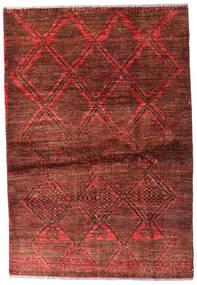 Moroccan Berber - Afghanistan Teppe 95X139 Ekte Moderne Håndknyttet Mørk Rød/Mørk Brun (Ull, Afghanistan)