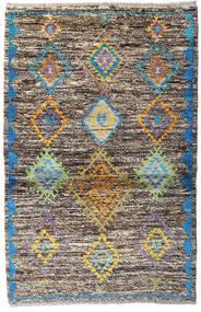 Moroccan Berber - Afghanistan Teppe 93X143 Ekte Moderne Håndknyttet Lys Grå/Mørk Grå (Ull, Afghanistan)