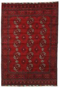 Afghan Teppe 202X289 Ekte Orientalsk Håndknyttet Mørk Rød/Rød (Ull, Afghanistan)