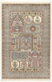 Ilam Sherkat Farsh Silke Teppe 148X223 Ekte Orientalsk Håndknyttet Lys Grå/Beige (Ull/Silke, Persia/Iran)