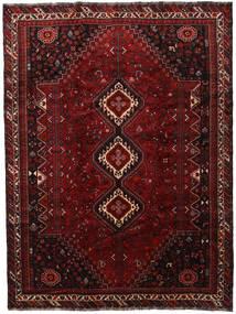 Shiraz Teppe 230X306 Ekte Orientalsk Håndknyttet Mørk Rød (Ull, Persia/Iran)
