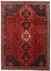 Shiraz Teppe 225X316 Ekte Orientalsk Håndknyttet Mørk Rød/Mørk Brun (Ull, Persia/Iran)