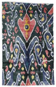 Sari Ren Silke Teppe 105X166 Ekte Moderne Håndknyttet Mørk Blå/Hvit/Creme (Silke, India)