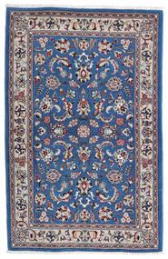 Kashmar Teppe 105X160 Ekte Orientalsk Håndknyttet Lys Grå/Mørk Blå (Ull, Persia/Iran)