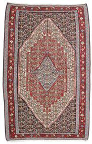 Kelim Senneh Teppe 160X246 Ekte Orientalsk Håndvevd Lys Grå/Mørk Grå (Ull, Persia/Iran)