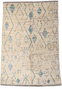 Moroccan Berber - Afghanistan Teppe 160X234 Ekte Moderne Håndknyttet Lys Grå/Beige (Ull, Afghanistan)