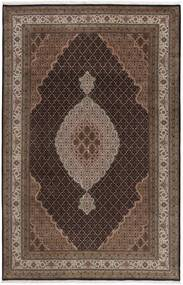 Tabriz Royal Teppe 196X290 Ekte Orientalsk Håndknyttet Mørk Brun/Brun ( India)
