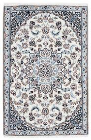 Nain 9La Teppe 90X137 Ekte Orientalsk Håndknyttet Hvit/Creme/Lys Blå (Ull/Silke, Persia/Iran)