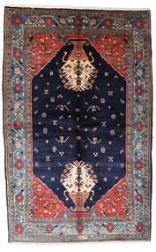 Gabbeh Kashkooli Teppe 155X246 Ekte Moderne Håndknyttet Mørk Lilla/Svart (Ull, Persia/Iran)