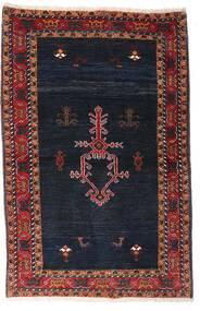 Gabbeh Kashkooli Teppe 104X160 Ekte Moderne Håndknyttet Svart/Mørk Rød (Ull, Persia/Iran)