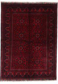 Kunduz Teppe 147X198 Ekte Orientalsk Håndknyttet Mørk Rød (Ull, Afghanistan)