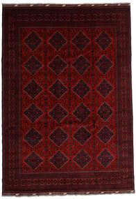 Kunduz Teppe 241X346 Ekte Orientalsk Håndknyttet Mørk Rød/Rød (Ull, Afghanistan)
