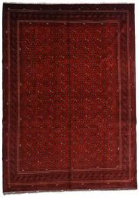 Kunduz Teppe 246X348 Ekte Orientalsk Håndknyttet Mørk Rød/Mørk Brun (Ull, Afghanistan)