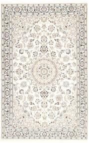 Nain 9La Teppe 116X181 Ekte Orientalsk Håndknyttet Beige/Lys Grå/Hvit/Creme (Ull/Silke, Persia/Iran)