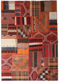 Tekkeh Kelim Teppe 162X231 Ekte Moderne Håndvevd Mørk Rød/Mørk Brun (Ull, Persia/Iran)