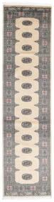 Pakistan Bokhara 2Ply Teppe 80X317 Ekte Orientalsk Håndknyttet Teppeløpere Beige/Lys Grå/Mørk Grå (Ull, Pakistan)