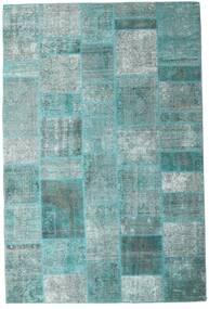 Patchwork - Persien/Iran Teppe 203X302 Ekte Moderne Håndknyttet Turkis Blå/Turkis Blå/Lys Blå (Ull, Persia/Iran)