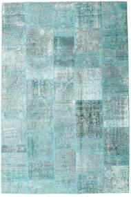Patchwork - Persien/Iran Teppe 205X303 Ekte Moderne Håndknyttet Lys Blå/Pastell Grønn/Turkis Blå (Ull, Persia/Iran)