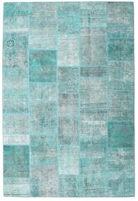 Patchwork - Persien/Iran Teppe 203X300 Ekte Moderne Håndknyttet Lys Blå/Turkis Blå (Ull, Persia/Iran)