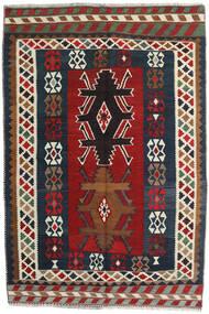 Kelim Vintage Teppe 141X213 Ekte Orientalsk Håndvevd Mørk Rød/Mørk Grå (Ull, Persia/Iran)