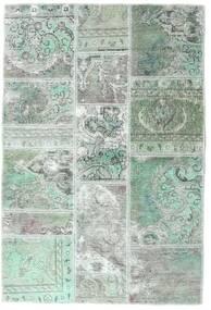 Patchwork - Persien/Iran Teppe 106X158 Ekte Moderne Håndknyttet Lys Grå/Pastell Grønn (Ull, Persia/Iran)