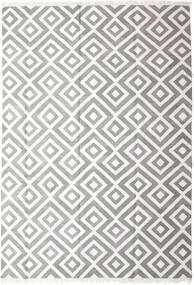 Bamboo Silke Kelim Teppe 250X350 Ekte Moderne Håndvevd Lys Grå/Hvit/Creme Stort (Ull/Bambus Silke, India)