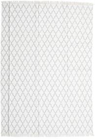 Bamboo Silke Kelim Teppe 250X350 Ekte Moderne Håndvevd Hvit/Creme/Lys Grå Stort (Ull/Bambus Silke, India)