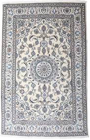 Nain Teppe 190X297 Ekte Orientalsk Håndknyttet Lys Grå/Hvit/Creme (Ull, Persia/Iran)