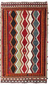 Kelim Vintage Teppe 157X270 Ekte Orientalsk Håndvevd Mørk Rød/Mørk Brun (Ull, Persia/Iran)