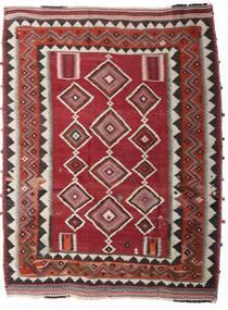 Kelim Vintage Teppe 186X246 Ekte Orientalsk Håndvevd Mørk Rød/Mørk Brun (Ull, Persia/Iran)