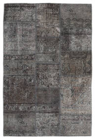Patchwork - Persien/Iran Teppe 105X159 Ekte Moderne Håndknyttet Mørk Grå/Svart (Ull, Persia/Iran)