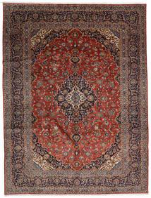 Keshan Teppe 300X392 Ekte Orientalsk Håndknyttet Mørk Brun/Mørk Rød Stort (Ull, Persia/Iran)