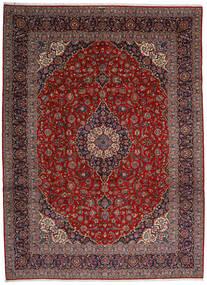 Keshan Teppe 313X428 Ekte Orientalsk Håndknyttet Mørk Rød/Mørk Grå Stort (Ull, Persia/Iran)