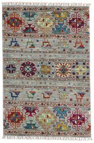 Shabargan Teppe 100X150 Ekte Moderne Håndknyttet Lys Grå/Mørk Brun (Ull, Afghanistan)