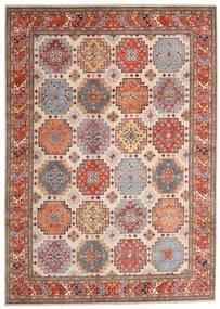 Kazak Teppe 244X342 Ekte Orientalsk Håndknyttet Lysbrun/Beige (Ull, Afghanistan)