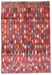 Moroccan Berber - Afghanistan Teppe 115X169 Ekte Moderne Håndknyttet Mørk Rød/Rust (Ull, Afghanistan)