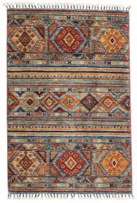 Shabargan Teppe 84X128 Ekte Moderne Håndknyttet Lys Grå/Mørk Brun/Lysbrun (Ull, Afghanistan)