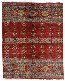 Shabargan Teppe 155X192 Ekte Moderne Håndknyttet Mørk Rød/Mørk Grå (Ull, Afghanistan)