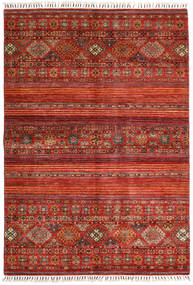 Shabargan Teppe 163X234 Ekte Moderne Håndknyttet Rust/Mørk Rød (Ull, Afghanistan)