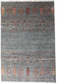 Shabargan Teppe 207X303 Ekte Moderne Håndknyttet Mørk Grå/Blå (Ull, Afghanistan)