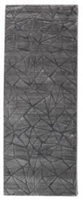 Patio - Grå Teppe 100X250 Moderne Teppeløpere Lys Grå/Mørk Grå ( Tyrkia)