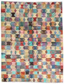 Moroccan Berber - Afghanistan Teppe 186X236 Ekte Moderne Håndknyttet Mørk Brun/Lys Grå (Ull, Afghanistan)
