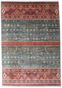 Shabargan Teppe 214X306 Ekte Moderne Håndknyttet Mørk Grå/Mørk Rød (Ull, Afghanistan)