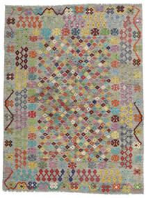 Kelim Afghan Old Style Teppe 171X227 Ekte Orientalsk Håndvevd Lys Grå/Mørk Grå (Ull, Afghanistan)