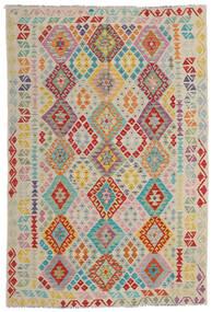 Kelim Afghan Old Style Teppe 167X247 Ekte Orientalsk Håndvevd Lys Grå/Mørk Beige (Ull, Afghanistan)