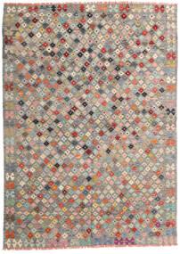 Kelim Afghan Old Style Teppe 172X240 Ekte Orientalsk Håndvevd Lys Grå/Mørk Grå (Ull, Afghanistan)